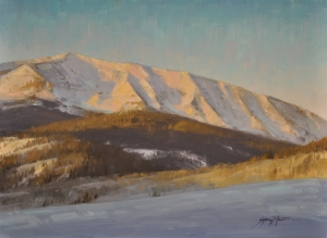 First Light Over Crested Butte
